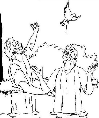 Fresh Baptism Of Jesus Coloring Page 83 John the Baptist coloring