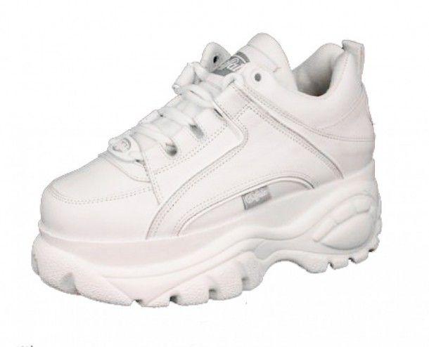 pretty nice 96aba 6a401 1339-14 Blanco   Compra en nuestra tienda online las nuevas bambas con  plataforma Buffalo
