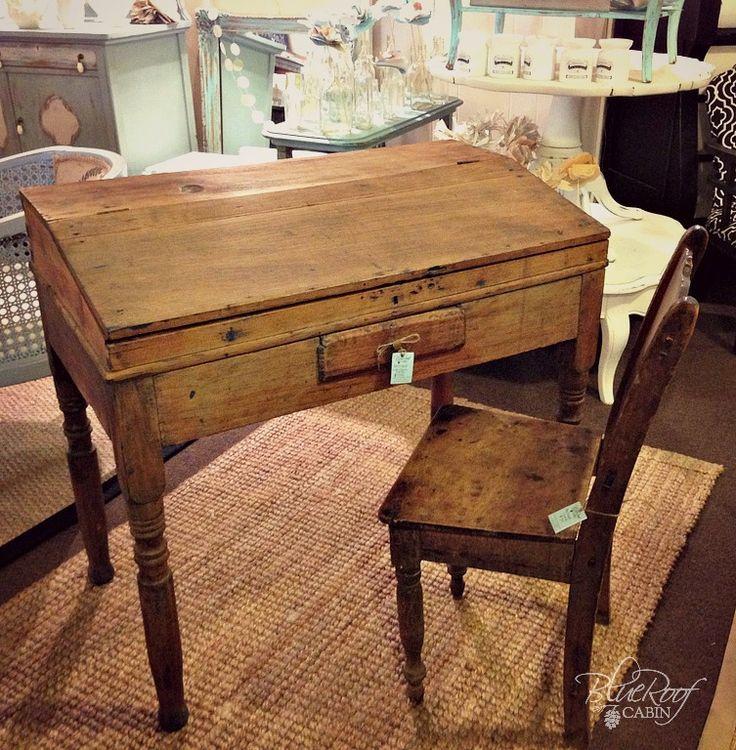 Antique Writing Desk & Chair ~ LOVE!!