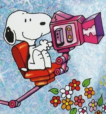 Snoopy with a camera