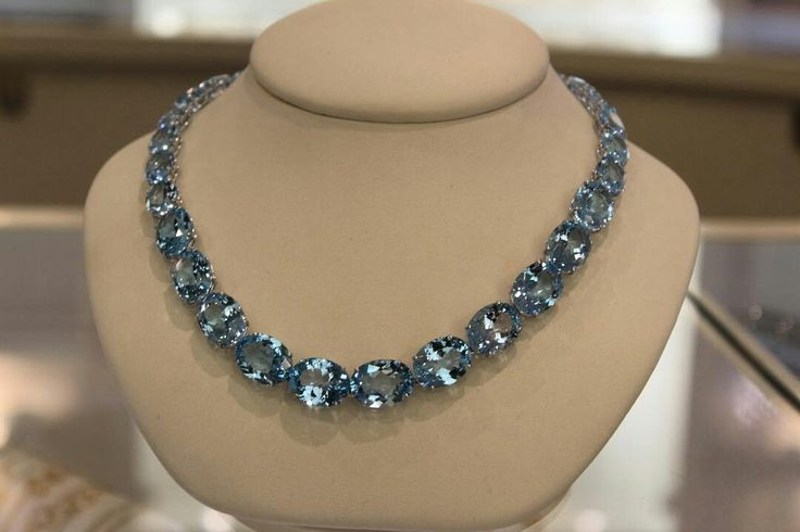 The most elegant Blue Topaz designs #necklace #specialedition #kikimcdonough #luxury #jewellery  #britishdesign