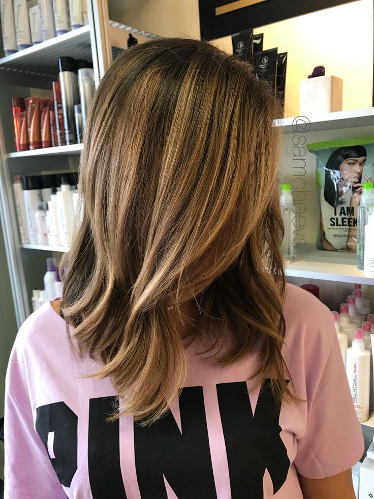 Brunette Blonde Dark Natural Caramel Honey Long Bob Hair