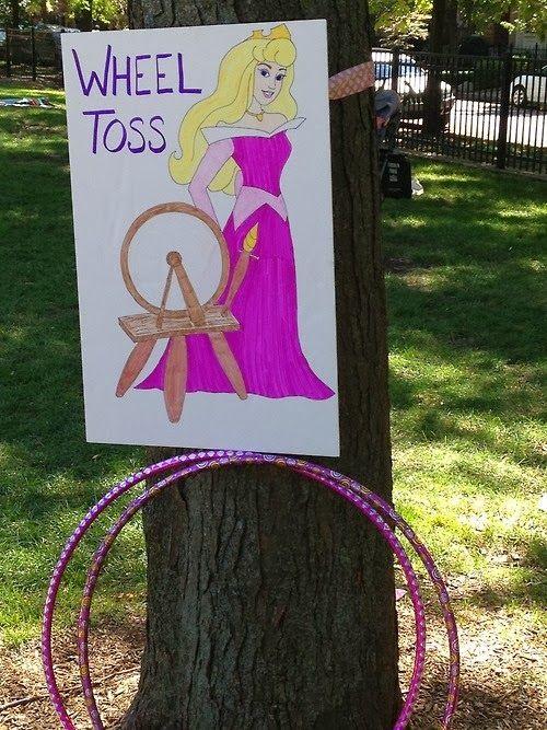 The Princess Birthday Blog: Princess Party Games- Spinning Wheel Toss