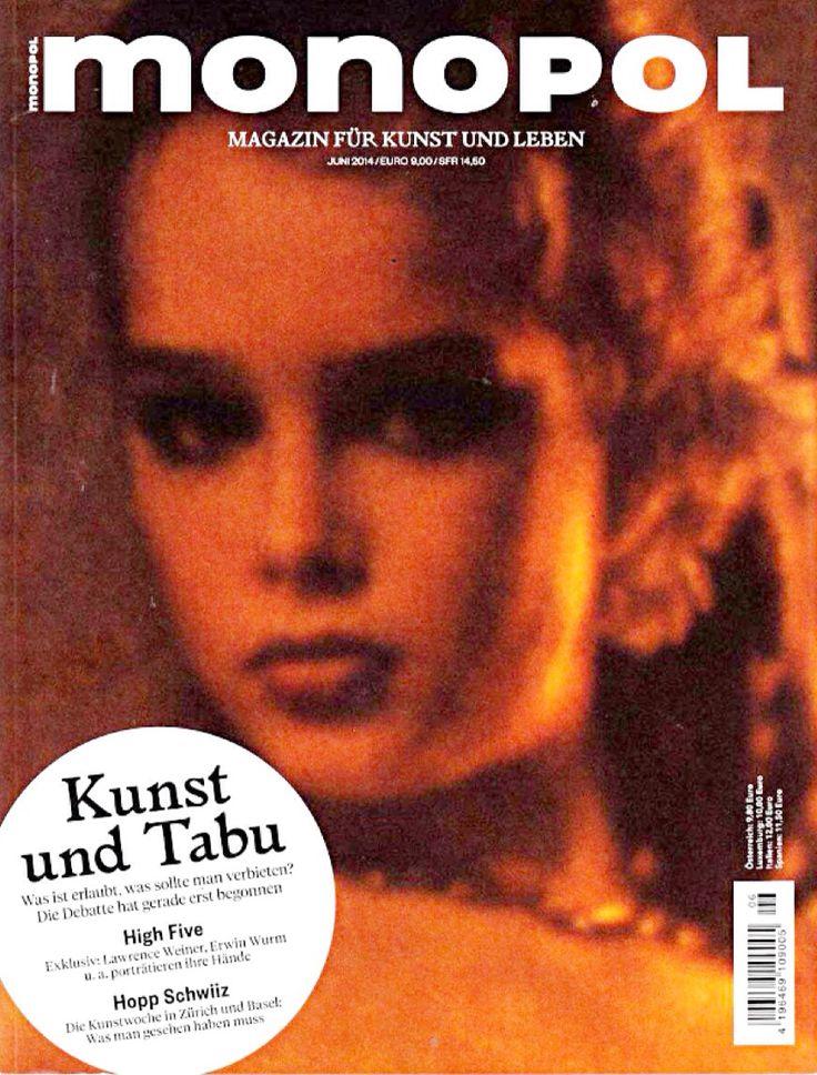 Brooke Shields covers Monopol Magazine (Germany), June 2014. Photo by Garry Gross, 1975.