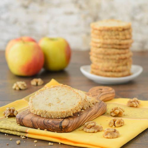 "Apple Walnut Cream Cheese Cookies ~ via this blog, ""Magnolia Days""."