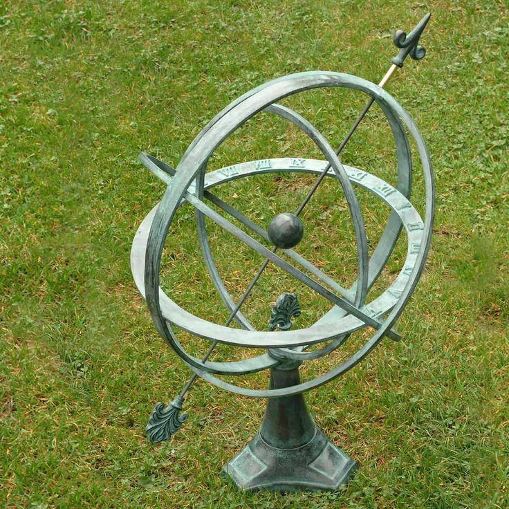 Cadran Solaire Bronze - sphère armillaire - Cadran Solaire