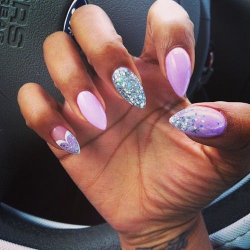 Pink And White Almond Nails | Joy Studio Design Gallery ...