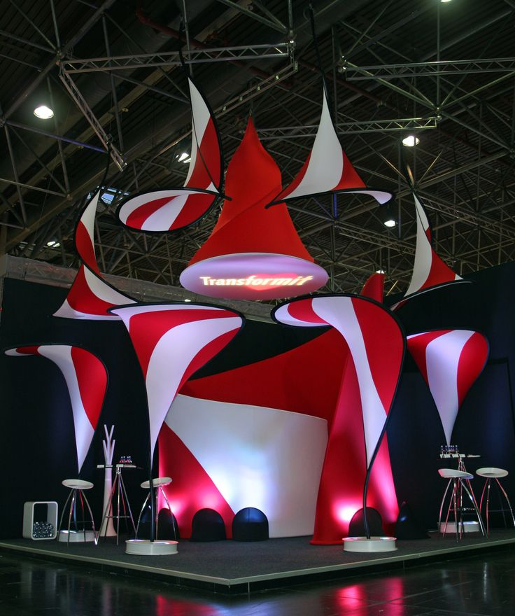 Great use of fabric to attract attention! - The Transformit Love Collection at Euroshop 2011