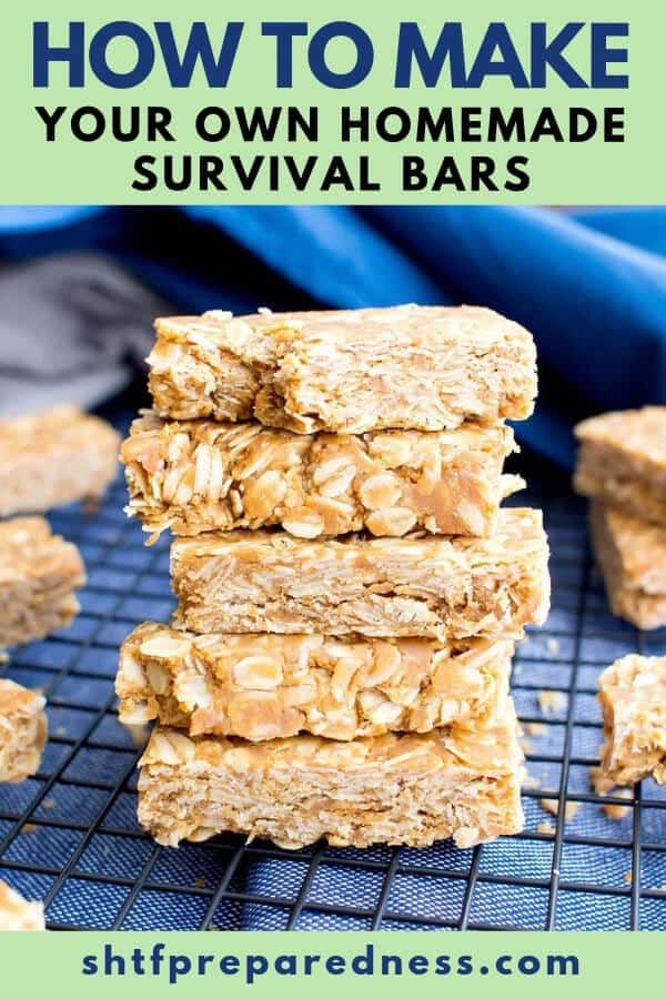 How To Make Your Own Homemade Survival Bars Granola Bars Peanut