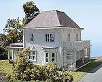 Dwight Eisenhower Boyhood Home Laser-Art Kit -- HO Scale Model Railroad Building -- #602