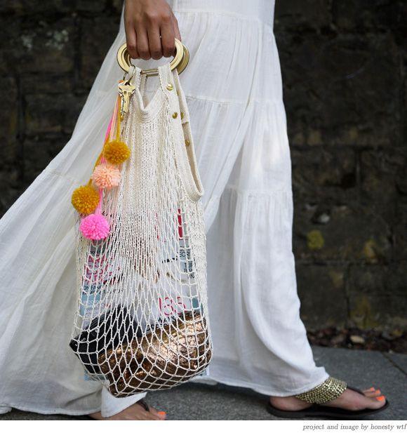DIY net bag via >>> Honestly WTF
