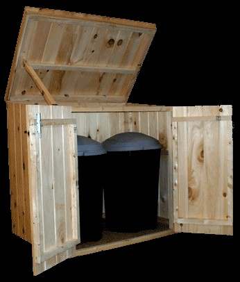 Wood Storage/Trash Bin. This Is New, But How Cool Would It Look. Outside  StoragePatio StorageOutdoor ...