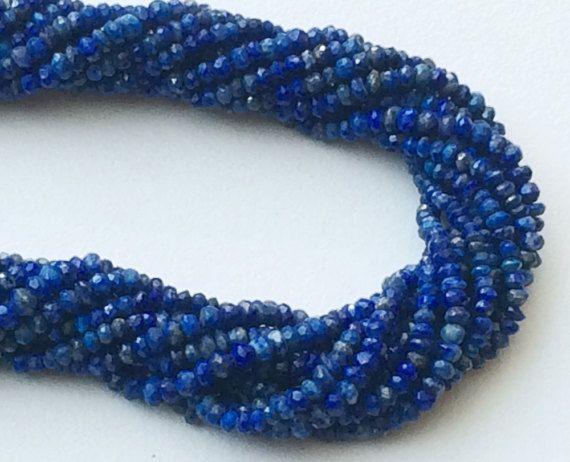 WHOLESALE 5 Strands Lapis Lazuli Beads Blue Lapis by gemsforjewels