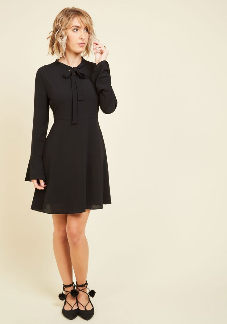 Black dress fall outfit 70s