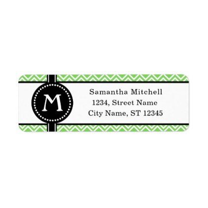 Monogram Modern Geometric Return Address Label - monogram gifts unique custom diy personalize