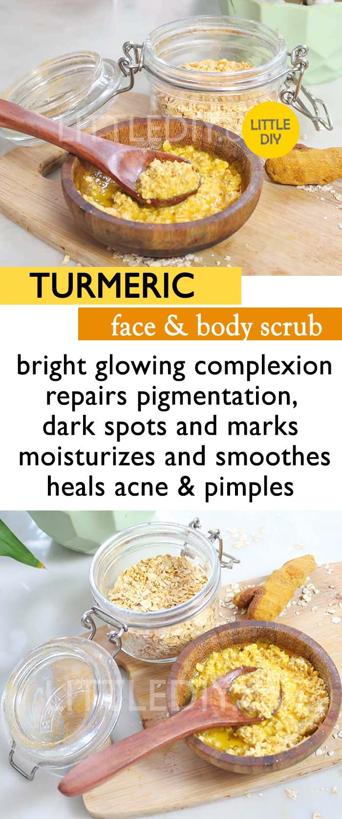 Turmeric Face And Body Scrub For Smooth Glowing Skin Face Body