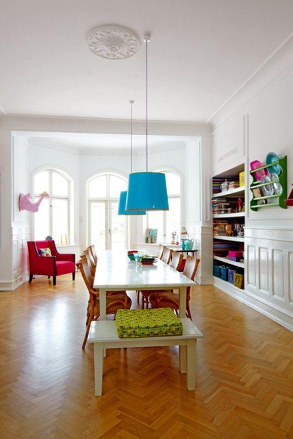Colourful Danish home