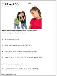 Printables Bullying Worksheet 1000 ideas about bullying worksheets on pinterest lessons school and ways to stop bullying