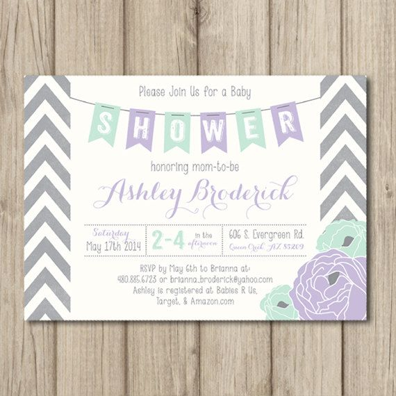 PRINTABLE BABY SHOWER Invitation Chevron Banner by kimberlyjdesign, $15.50