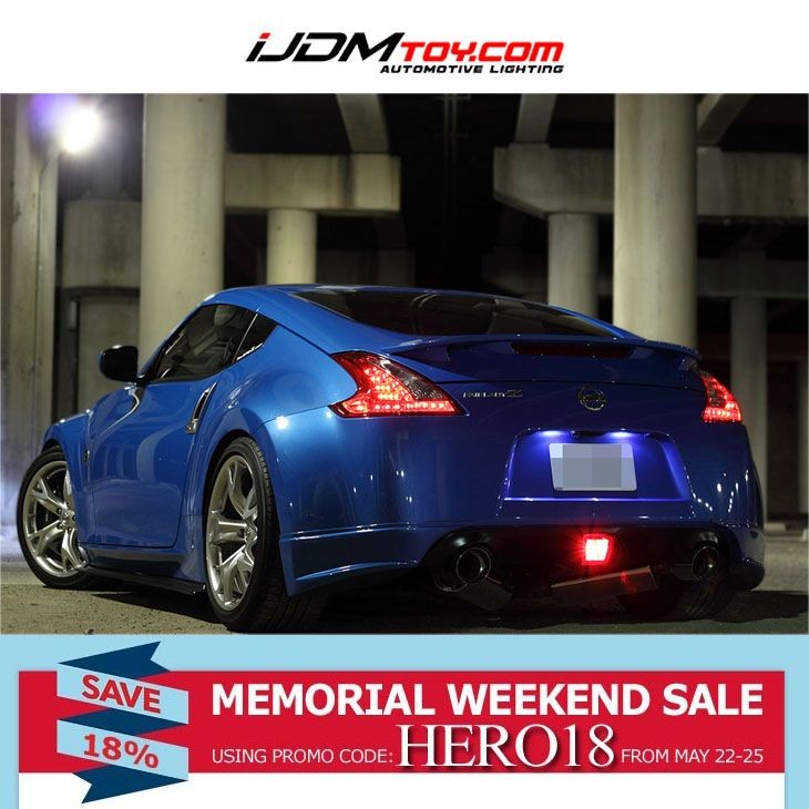 iJDMTOY Memorial Day Sale has arrived! 5/22-5/25 - take 18% off with code HERO18  http://store.iJDMTOY.com  #Nissan #370Z #Fairlady #FairladyZ #cars #carparts #carlights #memorialday #sale