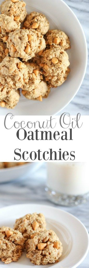 Coconut Oil Oatmeal Scotchies - pumpkinandpeanutbutter