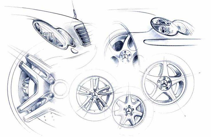 illustration voiture détails MERCEDES Florence Gendre #illustration #Mercedes #conceptcar