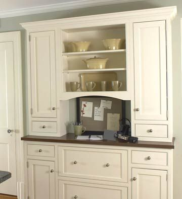 25 best ideas about built in hutch on pinterest built for Convert kitchen desk to pantry