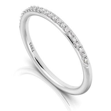 Perfect white gold ring TOUS Les Classiques with diamonds