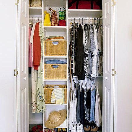 small bedroom closet organization ideas