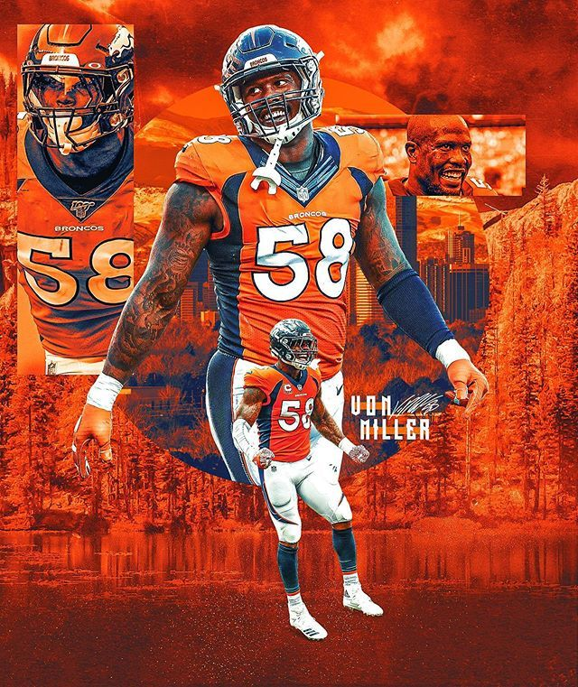 Brandon Long On Instagram 10 Vonmiller Sportsdesign Sportsdesigner Graphicdesign Gr Denver Broncos Wallpaper Broncos Cheerleaders Sports Design