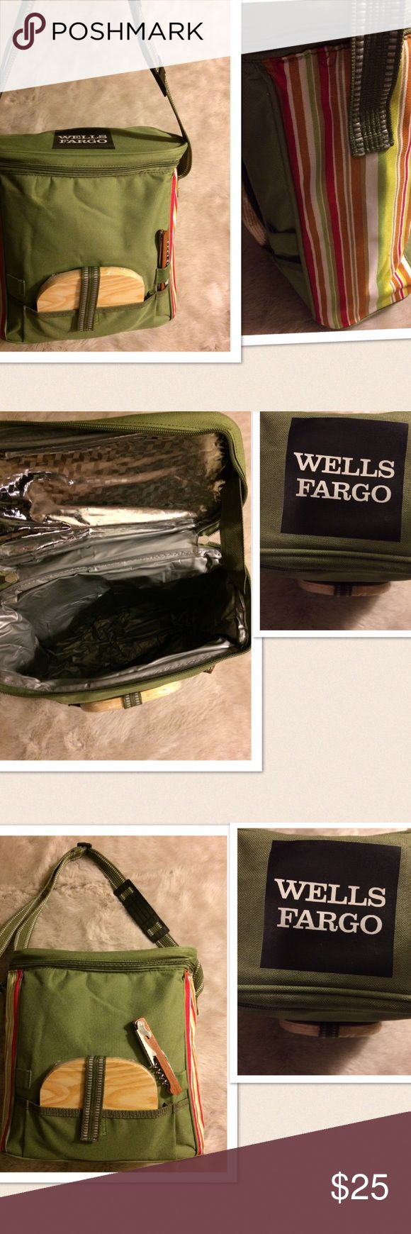 🆕 Wells Fargo Insulated Lunch Bag 🆕 Wells Fargo Insulated Lunch Bag. Includes cutting board and bottle opener. wells fargo Bags Totes