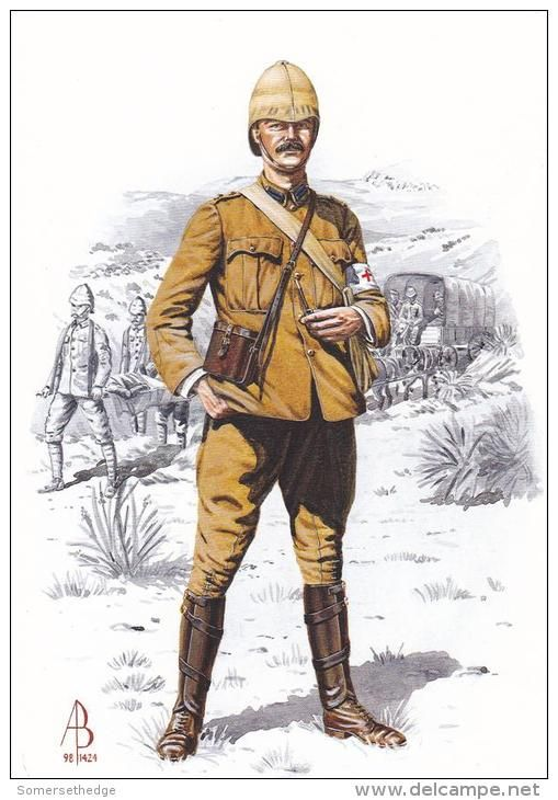 British; Royal Army Medical Corps, Medical Officer c.1900 by Alix Baker
