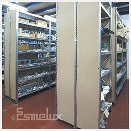 Cerramientos laterales y de fondo para estanterías metálicas. https://www.esmelux.com/cerramientos-laterales-y-de-fondo