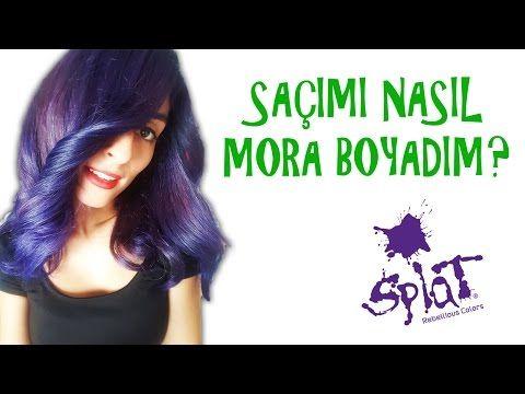 Saçımı Nasıl Mora Boyadım I Splat Purple Desire I Kapak Kızı - YouTube