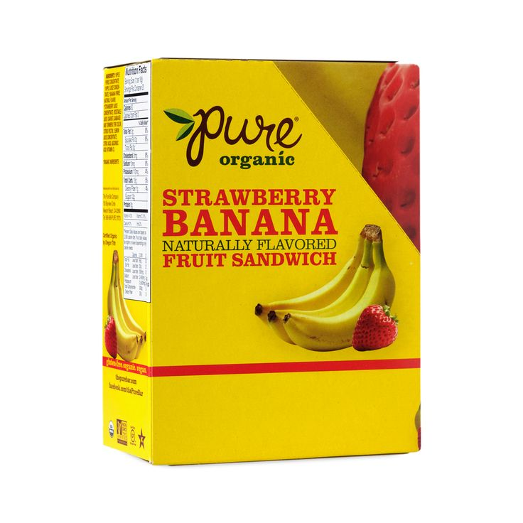 Shop Pure Organic Pure Organic Strawberry & Banana Fruit Bar Sandwiches at wholesale price only at ThriveMarket.com