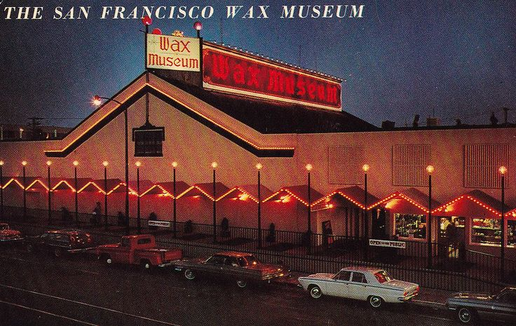 https://flic.kr/p/qmS2sW | San Francisco Wax Museum | Back of postcard reads:  WAX MUSEUM AT FISHERMAN'S WHARF 125 Jefferson St.  TUxedo 5-4834  Located on Fisherman's Wharf, the museum contains the amazing Josephine Tussaud wax figures of famous people depicted as they appeared at the time of their greatest impact on the world.  Color by Proctor Jones  Pub. by Smith News Co., San Francisco, Calif.