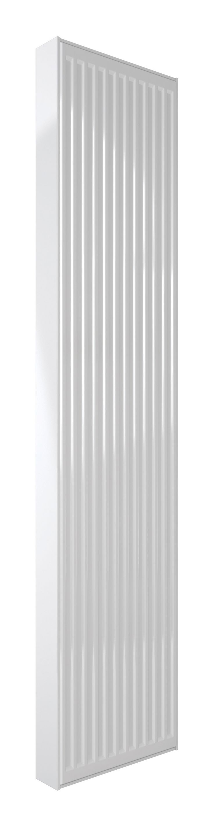 This is a compact vertical radiator for a premium space. Its a smart, stylish radiator with excellent performance.