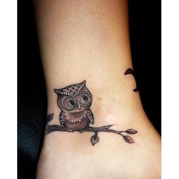 Cute little owl: Tattoo Ideas, Wrist Tattoo, Small Owl Tattoo, Tattoo'S, A Tattoo, Cute Owl, Owls, Owl Tattoos, Cute Tattoo