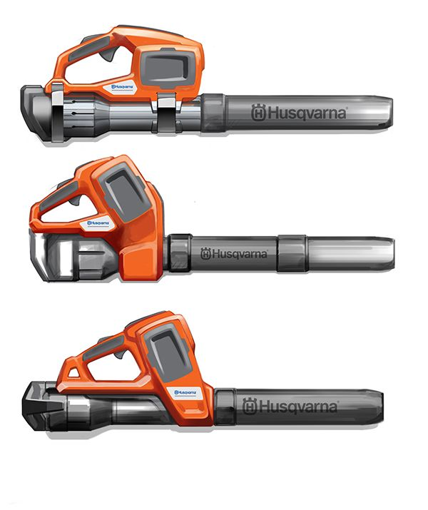 Husqvarna Professional Battery leaf blower on Industrial Design Served