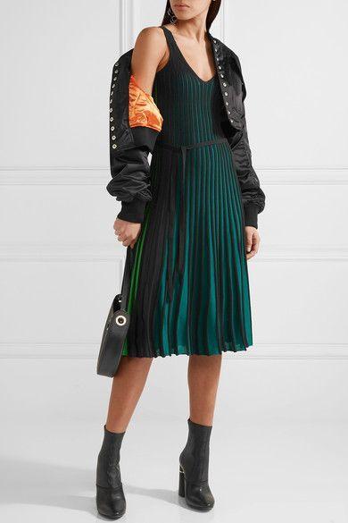 KENZO - Ribbed Stretch-knit Dress - Green - x large