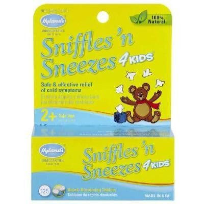 Hylands Homeopathic Remedies Sniffles 4 Kids (1x125tab )