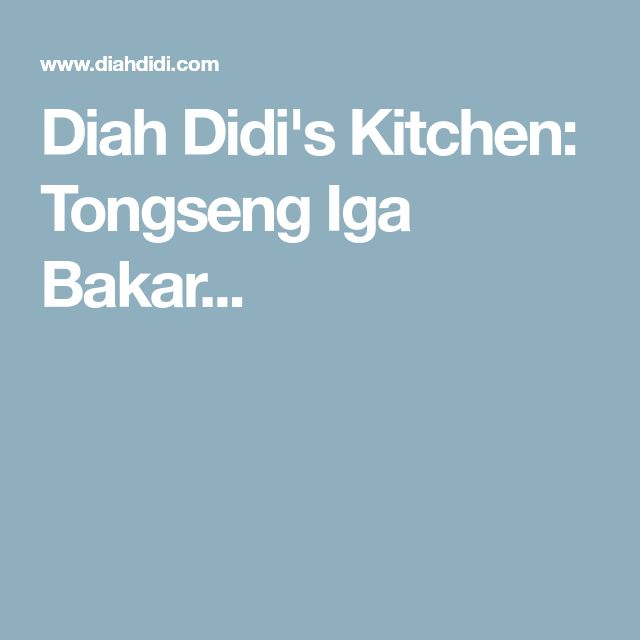 Diah Didi's Kitchen: Tongseng Iga Bakar...