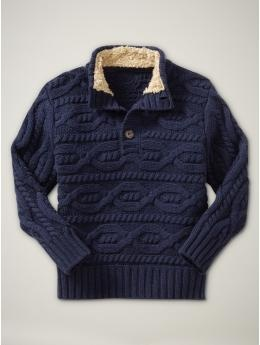 Cableknit mockneck sweater $39.99 Gap kids cute!