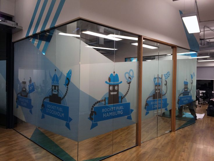 Rocket Fuel - Office Interior.  Bespoke graphics & #vinyl #glassmanifestations