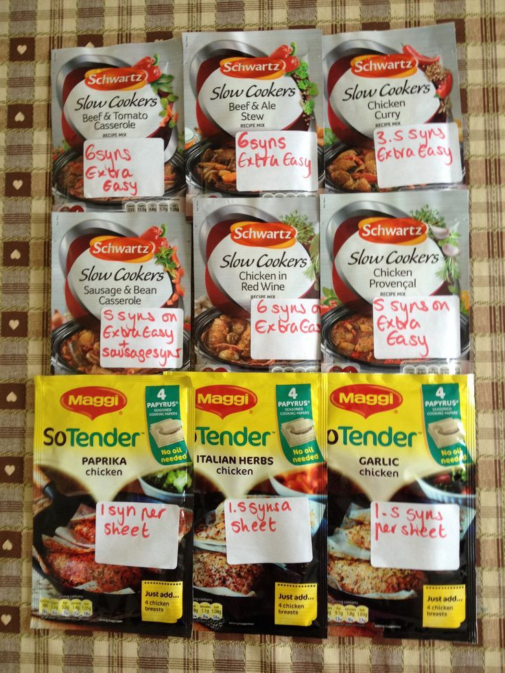 schwartz slow cooker spice mix syns & Maggie so tender syns Slimming World
