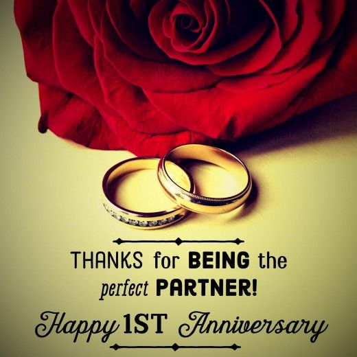 One-year marriage anniversary message: Thanks for being the perfect partner.