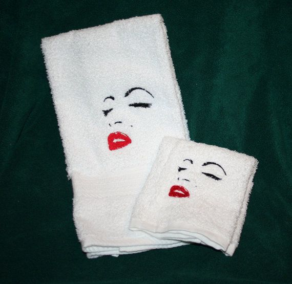 Embroidered White Marilyn Monroe 1 Hand by CantStopEmbroidering