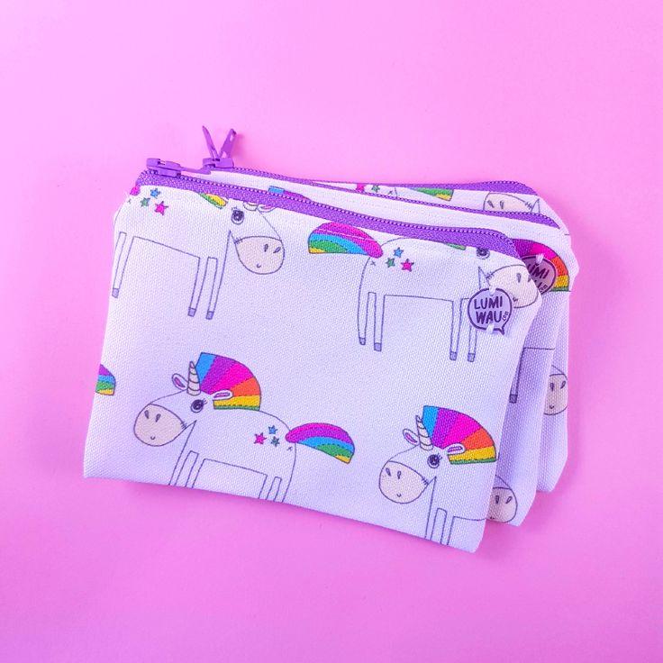 Unicorn Zipper Pouch // Coin purse // Wallet