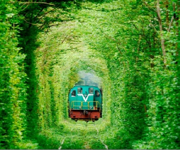 Tunnel Of Love - Ukraine-Most Amazing Train Railways
