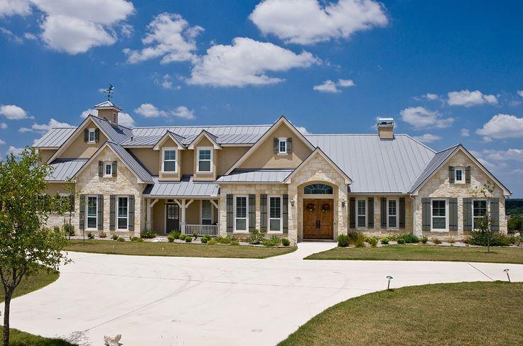 345 best images about hill country style homes on - Country style exterior house colors ...